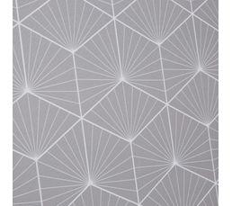 Paravent 120x180 cm GRAPHIQUE Blanc/gris