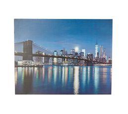 MANHATTAN LED Toile LED 85x110 cm Multicolor