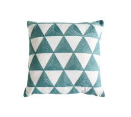 TRIANGLE Coussin 40 x 40 cm Blanc / Gris