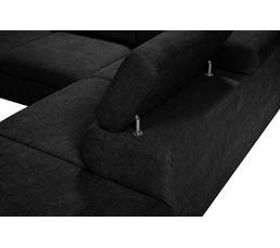 Angle convertible méridien.DT PHOENIX Tissu Alfa 21 Noir
