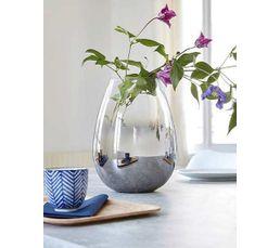 Vase en verre H. 24 cm EDEN Fumé