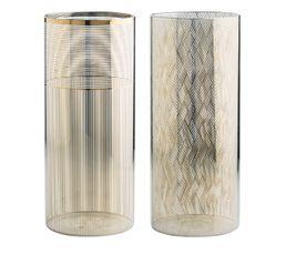 Vase en verre H. 28 cm CLEA Doré
