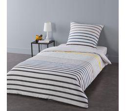 housse de couette 140x200 cm 1 taie d 39 oreiller marin linge de lit but. Black Bedroom Furniture Sets. Home Design Ideas