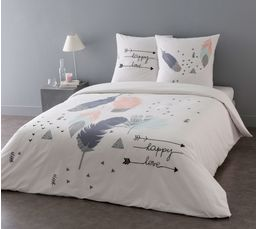 Housse de couette 240X220cm + 2 taies d'oreiller FEATHER – But