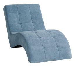 Chaise longue PATIO tissu Alfa bleu