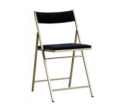 Chaise pliante VELOUTA Noir