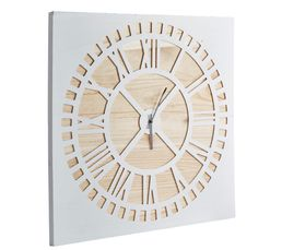 Horloge H. 70 cm NORDI Nature/blanc