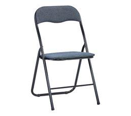 Chaise pliante TWEED Noir