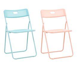 Chaise pliable PVC HOLO 2 coloris au choix