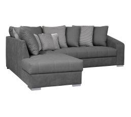 Canapé d'angle méridienne gauche SAHARA tissu anthracite