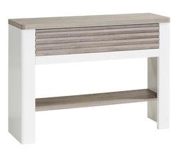 Console VERTIGO blanc/chêne gris