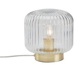 Lampe à poser verre laiton D20 LINETTE transparent