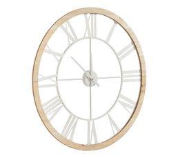 Horloge D.70 cm RIVAGE Naturel / Blanc
