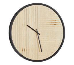 Horloge D. 50 cm PURE Noir / Naturel