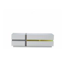 Meuble TV LED LUMINA Blanc