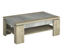 Table basse NORTON imitation bois et béton