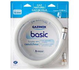 GAZINOX Tuyau Basic GN 2 m caoutchouc