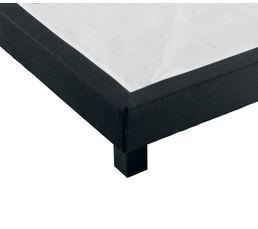 Sommier déco noir VESTAN 140x190 cm