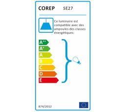 Cordon électrique E27 60 W Noir