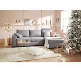 Coussin 60x60 cm PAILLETTE Blanc