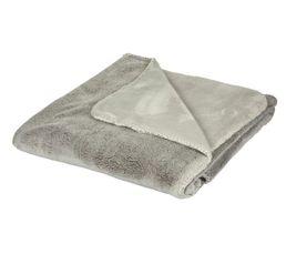 BANQUISE Plaid 140x200 cm taupe/gris