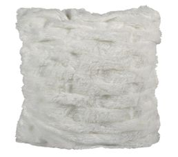 LILOU Coussin 40 x 40 cm blanc