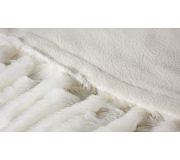 Plaid 130x160 cm LILOU blanc