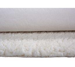 Tapis 68x100 MOUTON Imitation fourrure Blanc