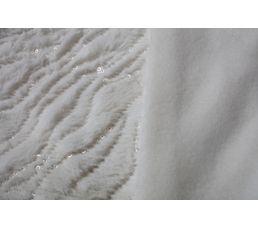 Plaid 125x150 cm PAILLETTES blanc