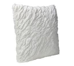 PAILLETTES Coussin 40 x 40 cm blanc