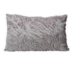 Coussin 30x50 cm PAILLETTES gris