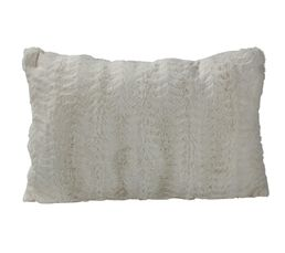 SIBERIE Coussin 40 x 60 cm blanc