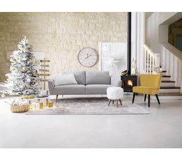tapis 60x90 cm siberie blanc - Tapis Salon Blanc