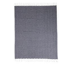 Plaid 120x150 cm BAHIA Noir/Blanc