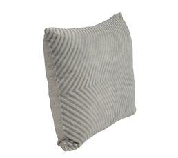 Housse : 100% coton. Garnissage : 100% polyester. Finition : coloris gris. Dimensions en cm : 30x50 cm.