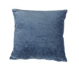 CURDUROY Coussin 40x40 cm assorti Bleu / Gris