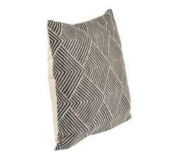 ETHNIC CHIC Coussin 40 x 40 cm Blanc / noir