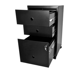 Caisson 3 tiroirs RETRO 3 Noir