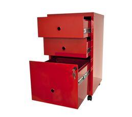Caisson 3 tiroirs RETRO 3 Rouge