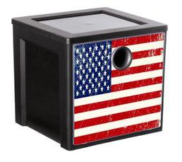 Cube de rangement MYDECOBOX FLAG Livré avec décor