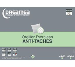 DREAMEA Oreiller 60 x 60 cm EVERCLEAN ANTI-TACHES