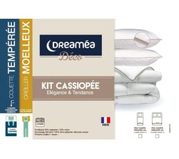 2 oreillers/1 couette 220x240 KIT CASSIOPEE DREAMEA