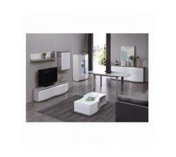 buffet 4 portes flex ch ne gris blanc buffets but. Black Bedroom Furniture Sets. Home Design Ideas