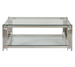 Table basse rectangulaire DARWIN chrome