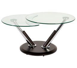 Table basse ronde NELSON noir