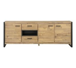Buffet 3 portes/ 2 tiroirs Zara bois naturel But