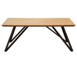 Table basse ST MORITZ naturel/noir