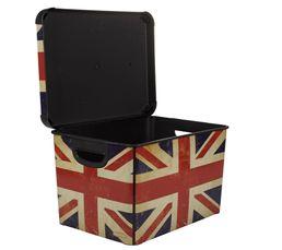 Boîte 40x30x24 cm BRITISH FLAG Rouge/Bleu