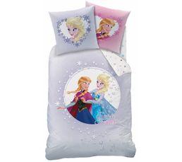 Housse de couette 140x200 1 princesse frozen sisters rose linge de lit but - Housse de couette princesse 140x200 ...
