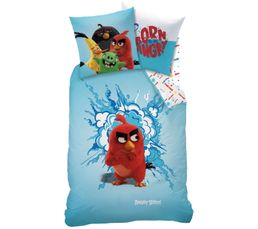 Housse de couette 140x200 + 1 ANGRY BIRDS RED bleu/rouge